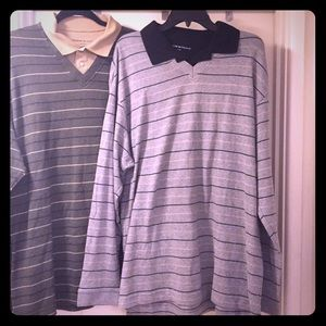Dockers 2 Collared v neck sweaters long sleeves